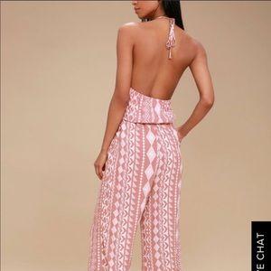 Peach patterned jumpsuit